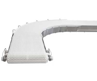 Distributor of Plastic chain belt conveyor system in Ahmedabad