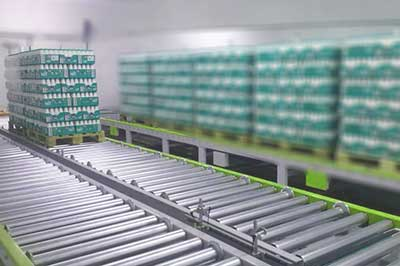 Gravity Roller Conveyor for pallets, india, bangalore, chennai, malaysia, coimbatore